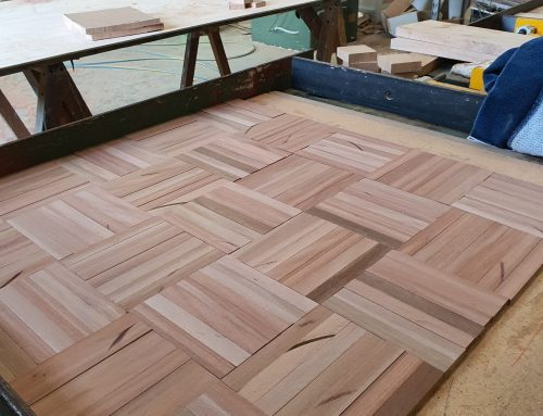 Brush Box Parquetry at St Bede's College!